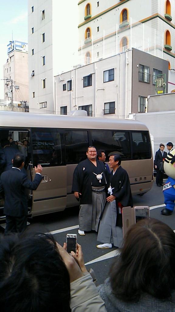 【相撲】琴奨菊の松戸優勝パレード
