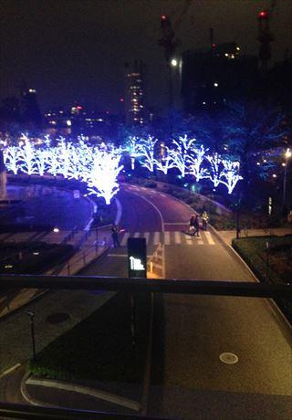 【夜景】東京ミッドタウンのクリスマスイルージョン